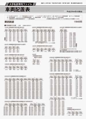 特別付録 大手私鉄車両ファイル 車両データバンク・車両配置表