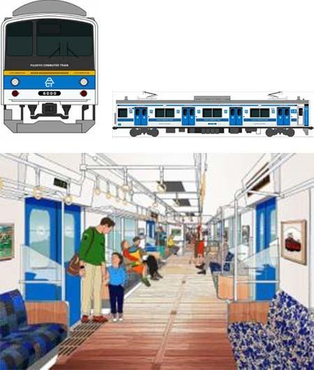 富士急行6000系,2月29日に営業運転を開始
